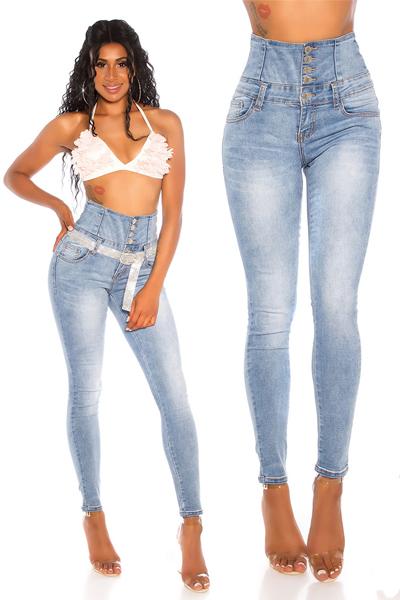 Roupa Jeans cintura subia