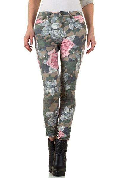 Roupa Jeans floridos
