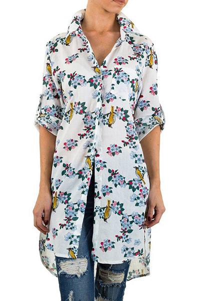Roupa Camisa florida