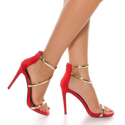 5bc4db86d Roupa mulher calçado sandálias tacão muito alto