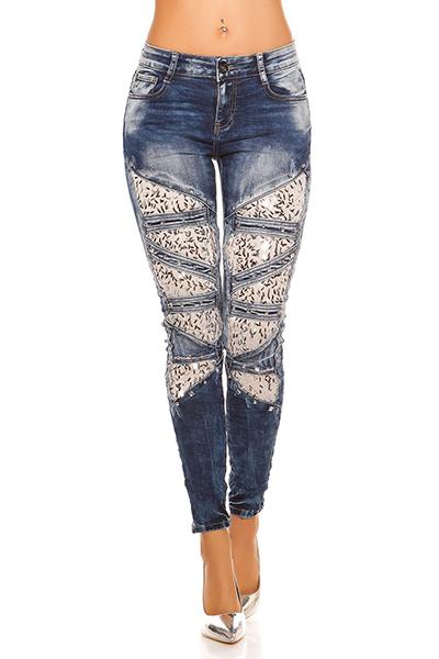 Roupa Jeans c/ mesh