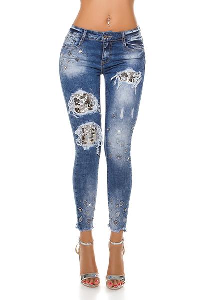 Roupa Jeans c/ lantejoulas