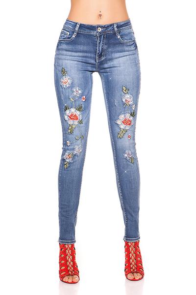 Roupa Jeans bordados