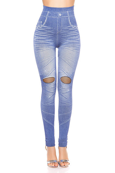 Roupa Jeggings c/ rede+cristais
