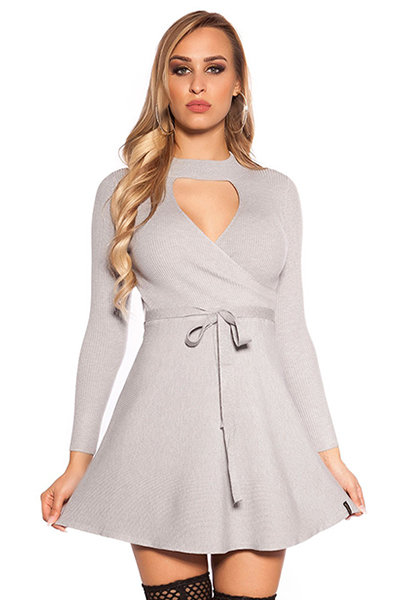 Roupa Vestido malha canelada