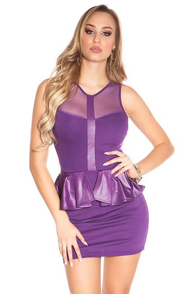 Roupa Vestido peplum