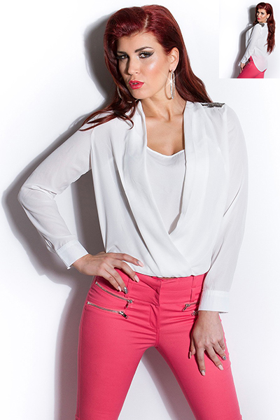 Roupa Blusa c/ aplic. no ombro