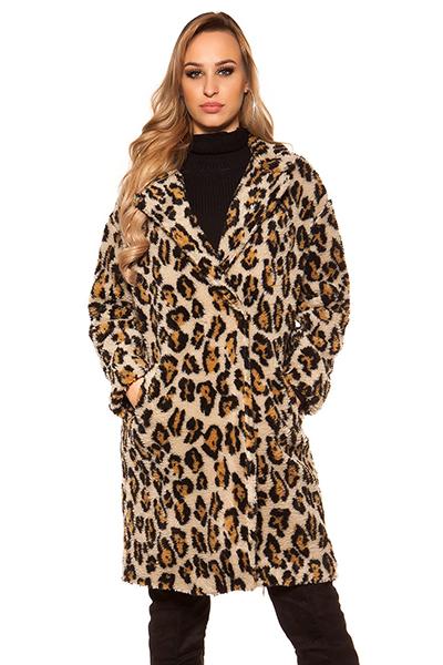 Roupa Casacão em leopardo