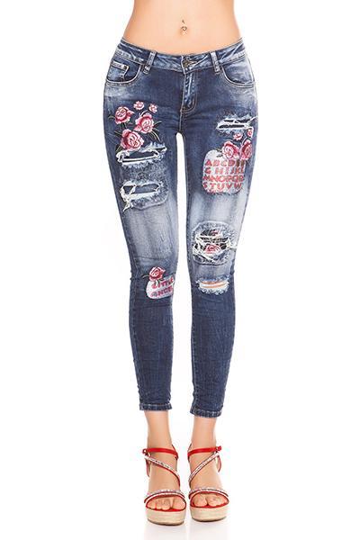 Roupa Jeans c/ emblemas