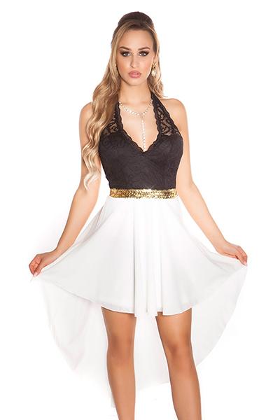 Roupa Vestido assimétrico