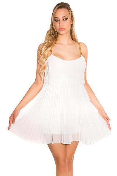 Roupa Vestido plissado