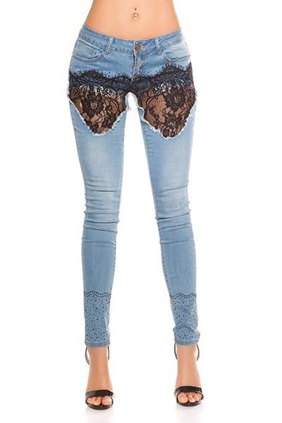 Roupa Jeans rendados