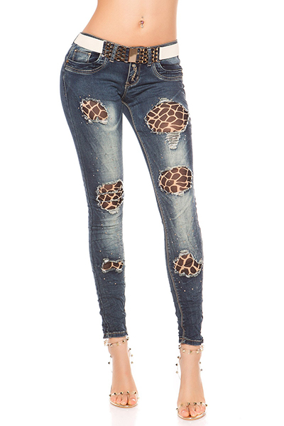 Roupa Jeans e cinto