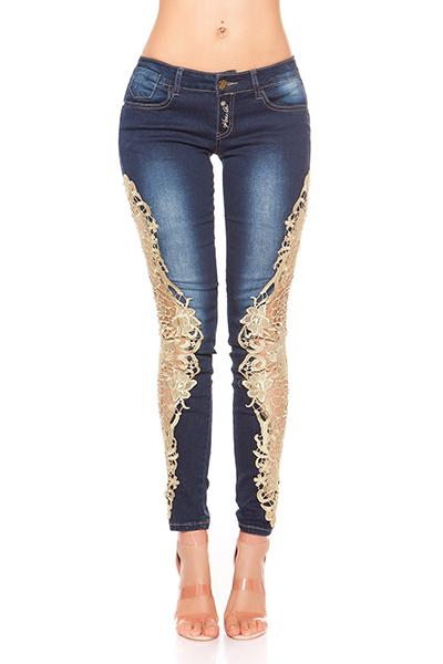 Roupa Jeans rendadas