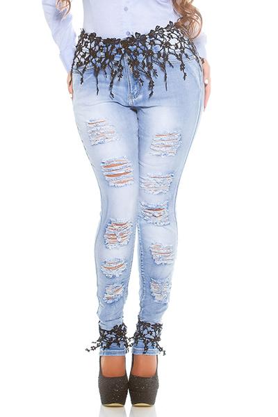 Roupa Jeans c/ renda
