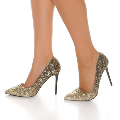 Roupa Sapatos c/ brilhantes