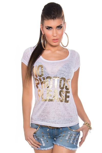 Roupa T-Shirt NO PHOTOS
